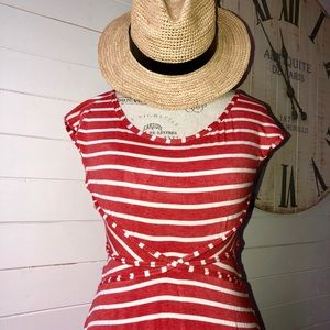 Max Studio Heathered Cap Sleeve Dress